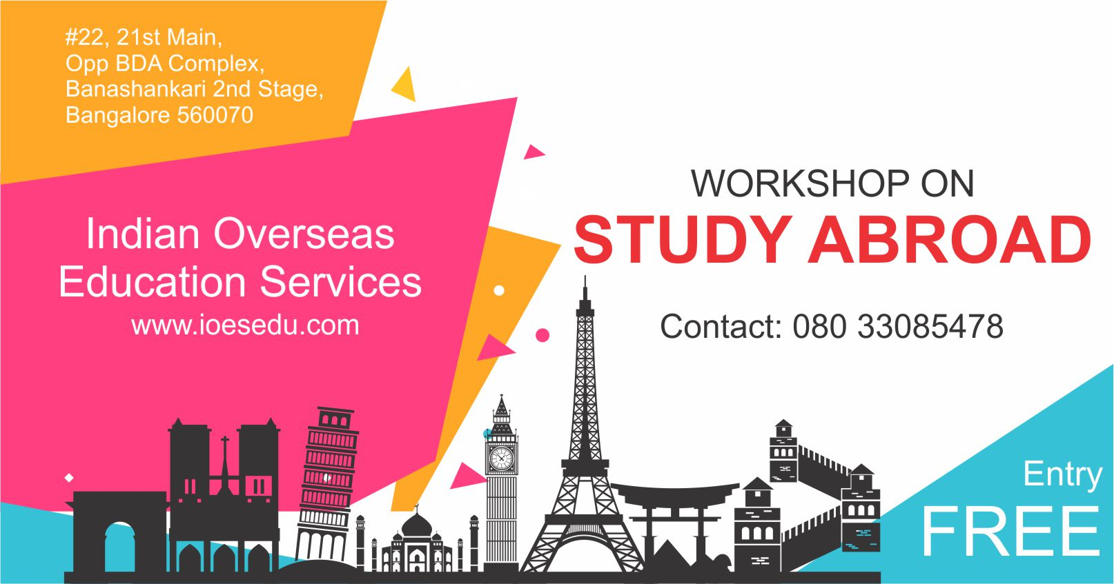 Study Abroad Events in Bangalore June 2018