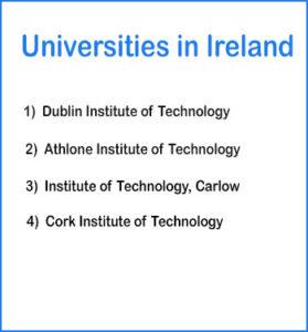 colleges and universities in Ireland