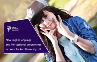 New English language and Pre-sessional programmes in Leeds Beckett University, UK.