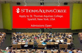 Apply to St. Thomas Aquinas College, Sparkill, New York, USA