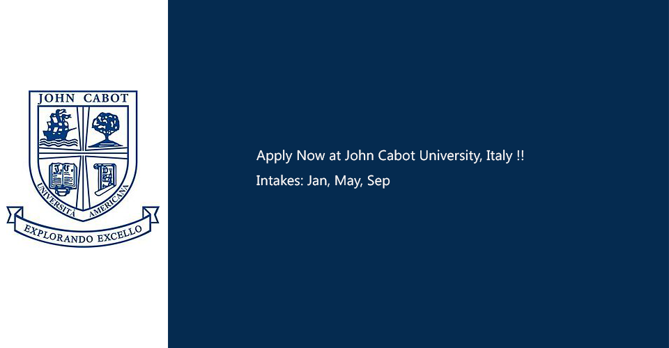 John Cabot University, Italy intakes 2019