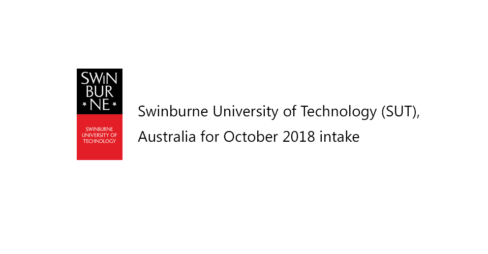 Swinburne University of Technology October 2018 intake