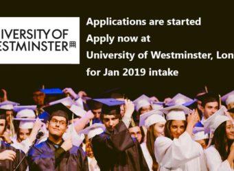 University of Westminster JAN 2019 Intake